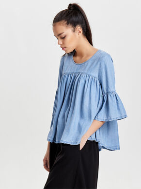 PLEATED 3/4 SLEEVED TOP