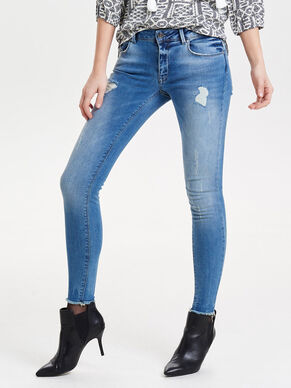 ULTIMATE RAW ANKLE SKINNY FIT JEANS