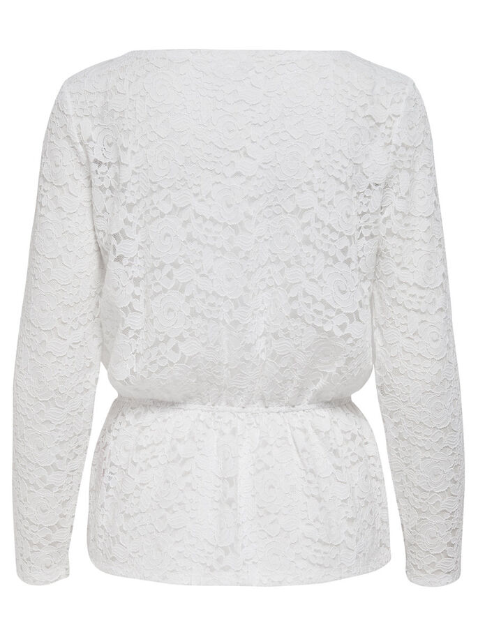 LACE LONG SLEEVED TOP, Cloud Dancer, large