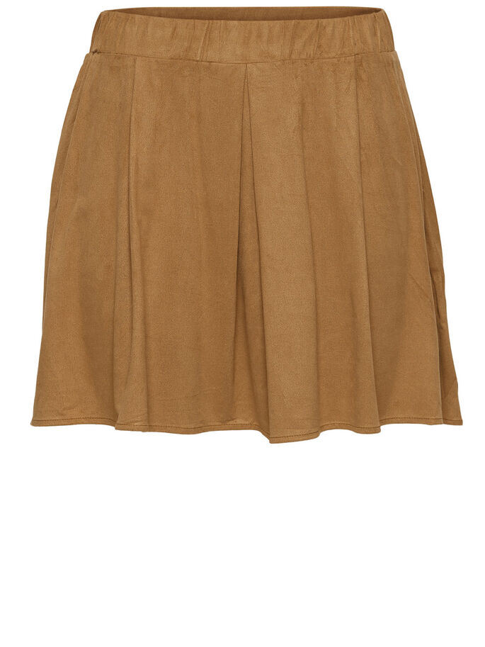 SHORT SKIRT, Tobacco Brown, large