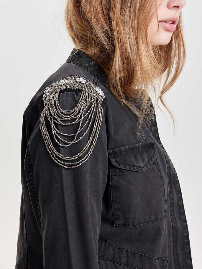 DETAILED JACKET, Black, large