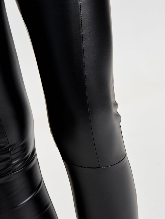 LEATHER LOOK LEGGINGS, Black, large