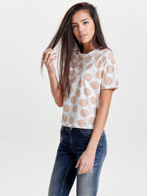 DOTTED SHORT SLEEVED TOP