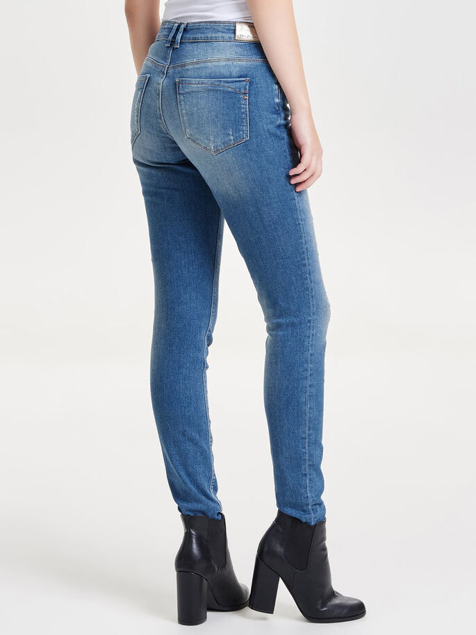 CARMEN NORMALHÖGA SKINNY FIT-JEANS, Light Blue Denim, large