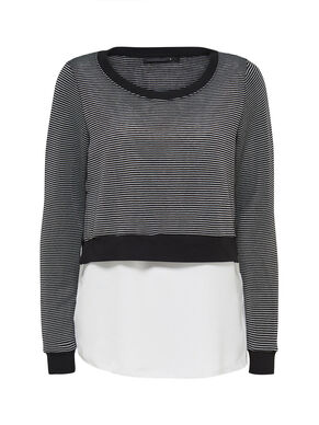 STRIPED MIXED LONG SLEEVED TOP
