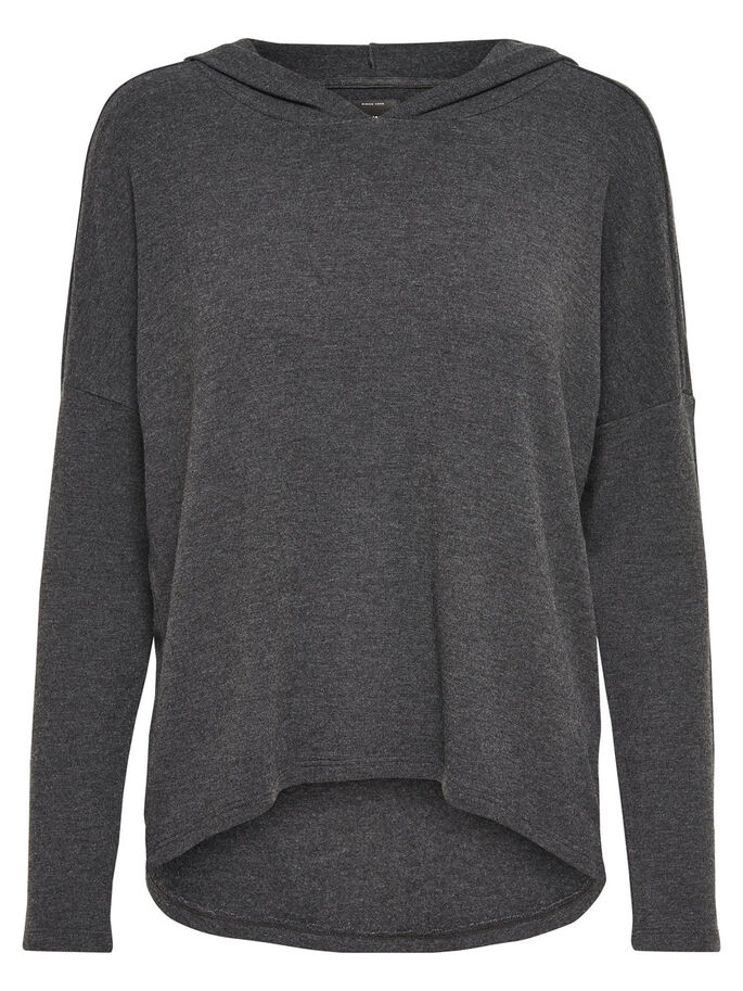 LOOSE FIT HETTEGENSER, Dark Grey Melange, large