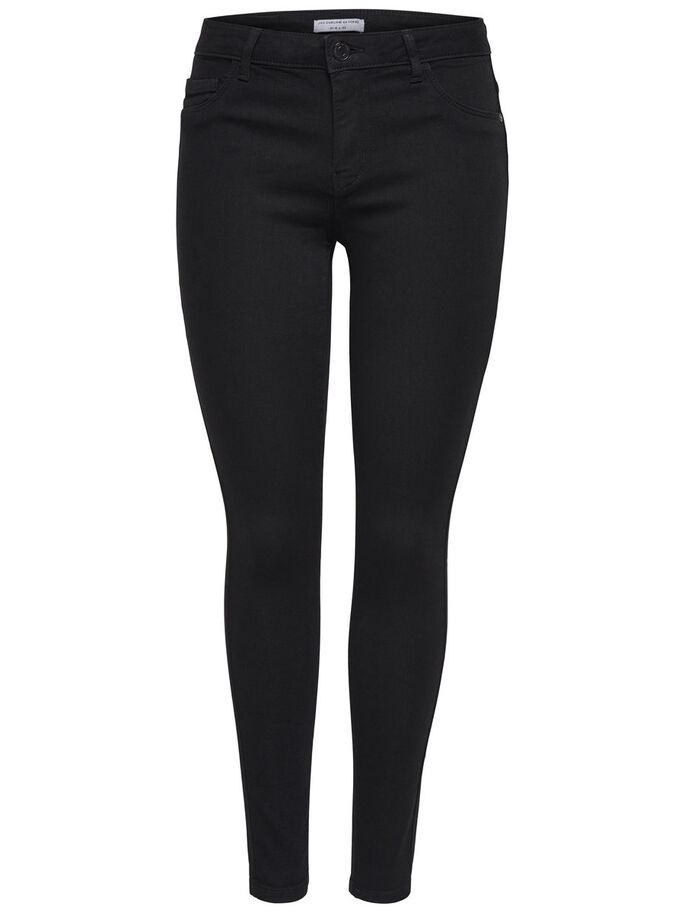 JDY SKINNY LOW ULLE ZWARTE SLIM FIT JEANS, Black, large