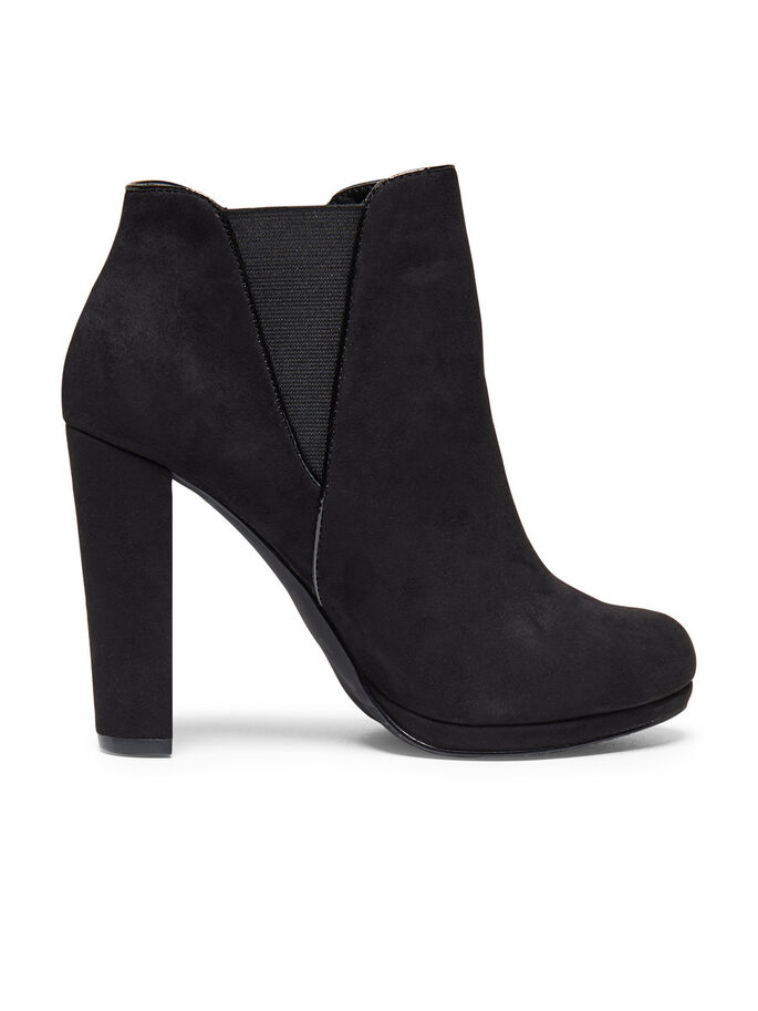 HEELED ANKLE BOOTS, Black, large