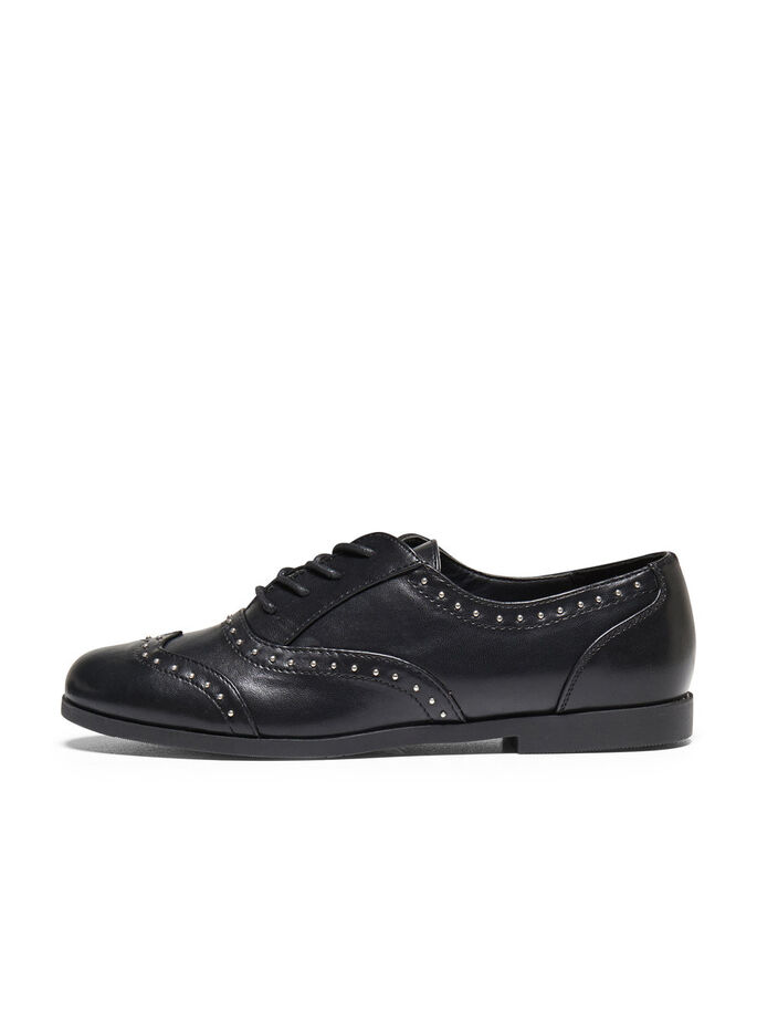 LACE UP SHOES, Black, large