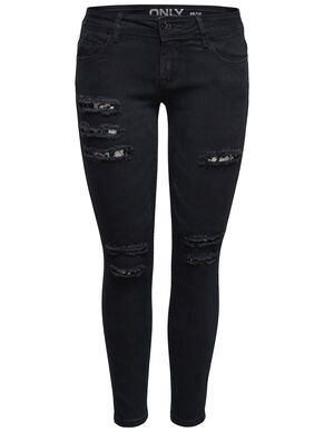 CORAL SL SK LACE ANKLE SKINNY FIT JEANS