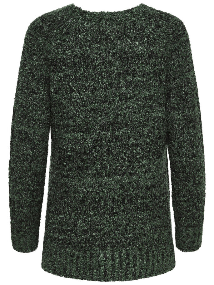 SOLID KNITTED PULLOVER, Tarmac, large