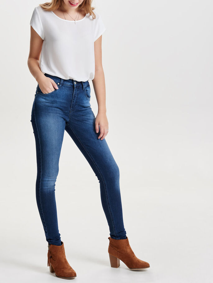PIPER HW SKINNY JEANS, Dark Blue Denim, large