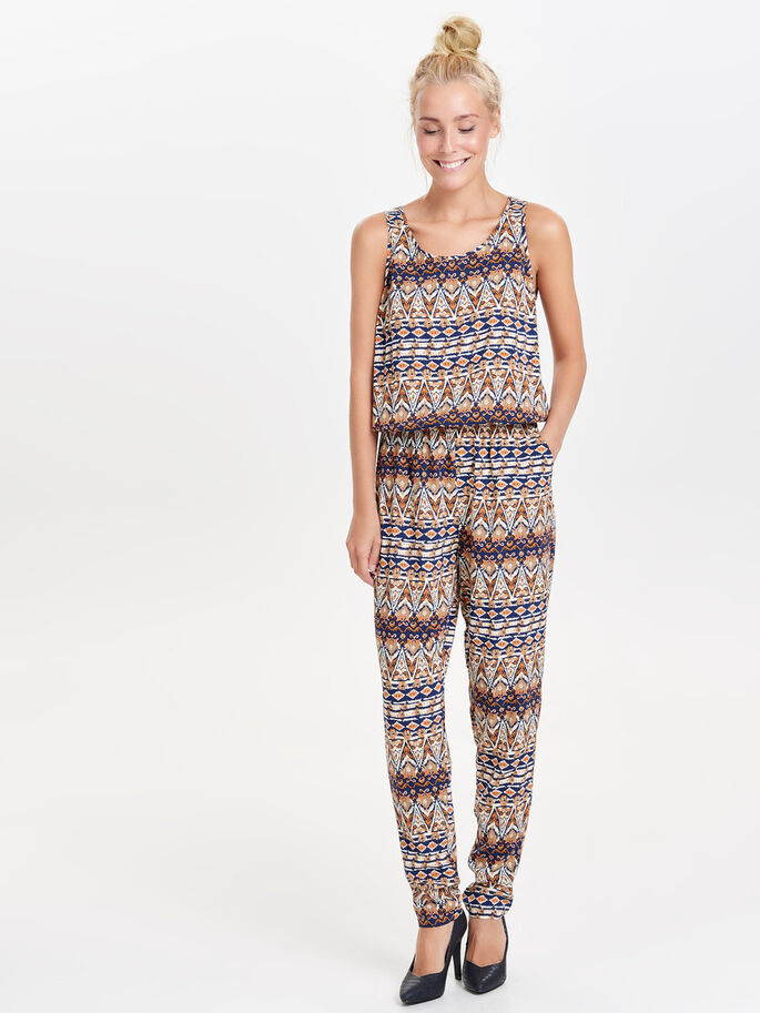 SLEEVELESS JUMPSUIT, Papyrus, large