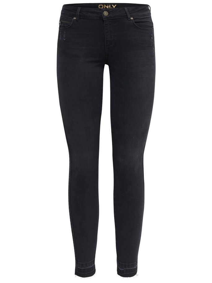 CORAL SUPERLÅGA ANKELLÅNGA SKINNY FIT-JEANS, Black, large