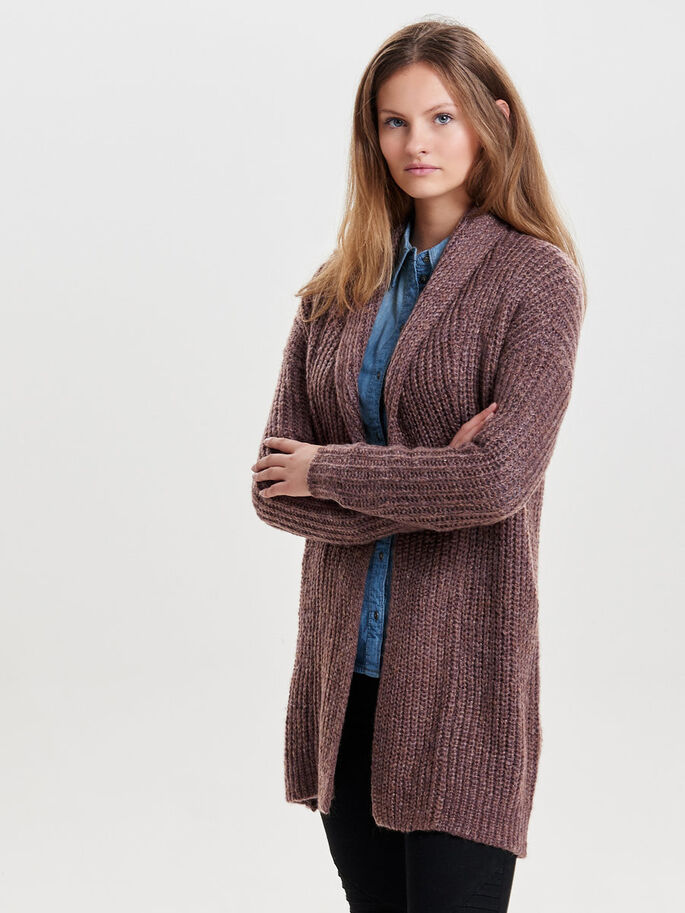 LÄSSIGER STRICK-CARDIGAN, Fudge, large