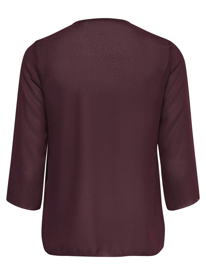 AVEC FINITIONS BLOUSE MANCHES 3/4, Winetasting, large