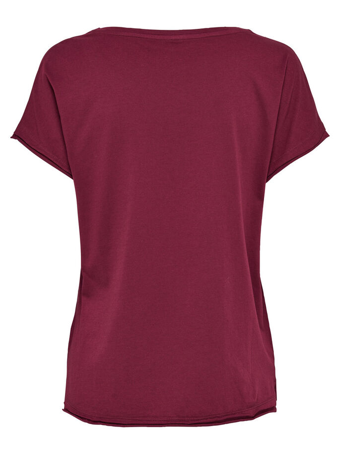 DETAILED SHORT SLEEVED TOP, Rhododendron, large