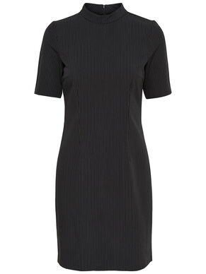 PINSTRIPE HIGH NECK DRESS