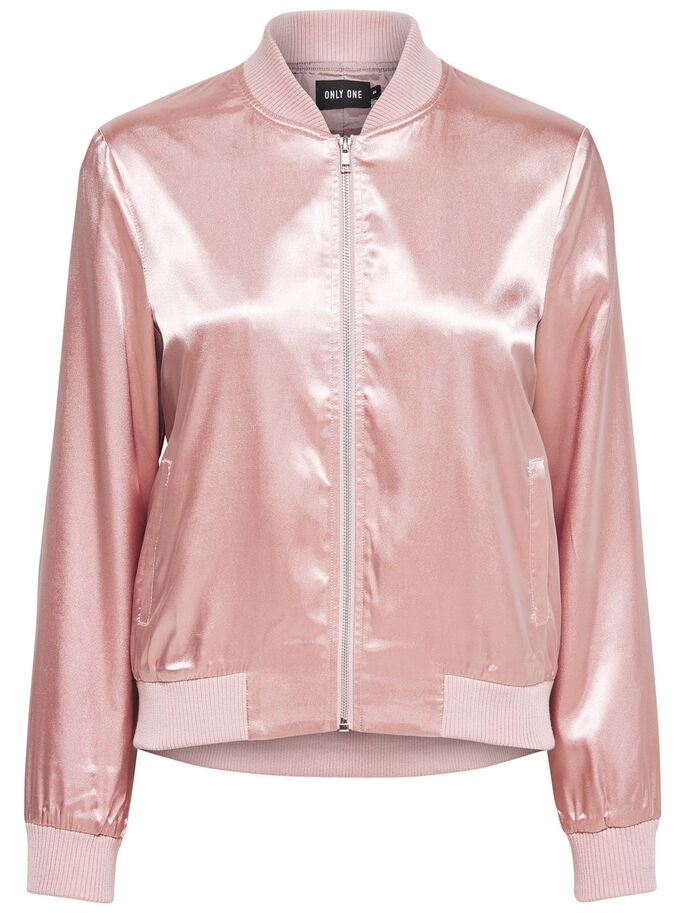 SHINY BOMBER JACKET, Maple Sugar, large
