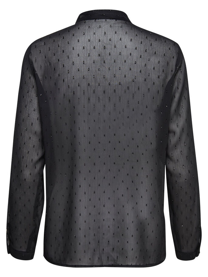 DETAILED LONG SLEEVED SHIRT, Black, large