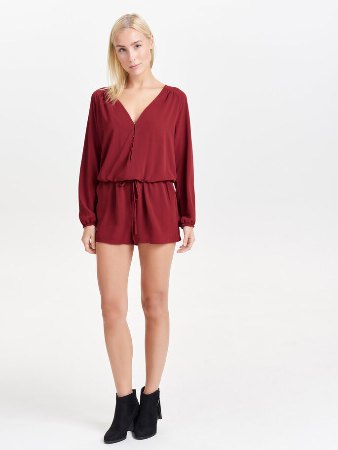 LONG SLEEVED PLAYSUIT, Syrah, large