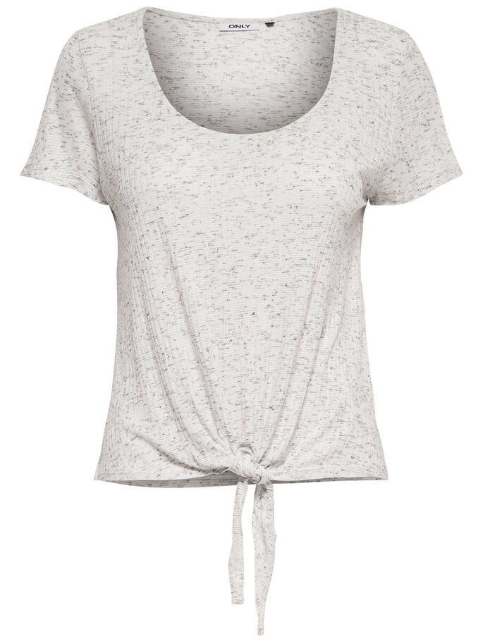 KNOT SHORT SLEEVED TOP, Cloud Dancer, large
