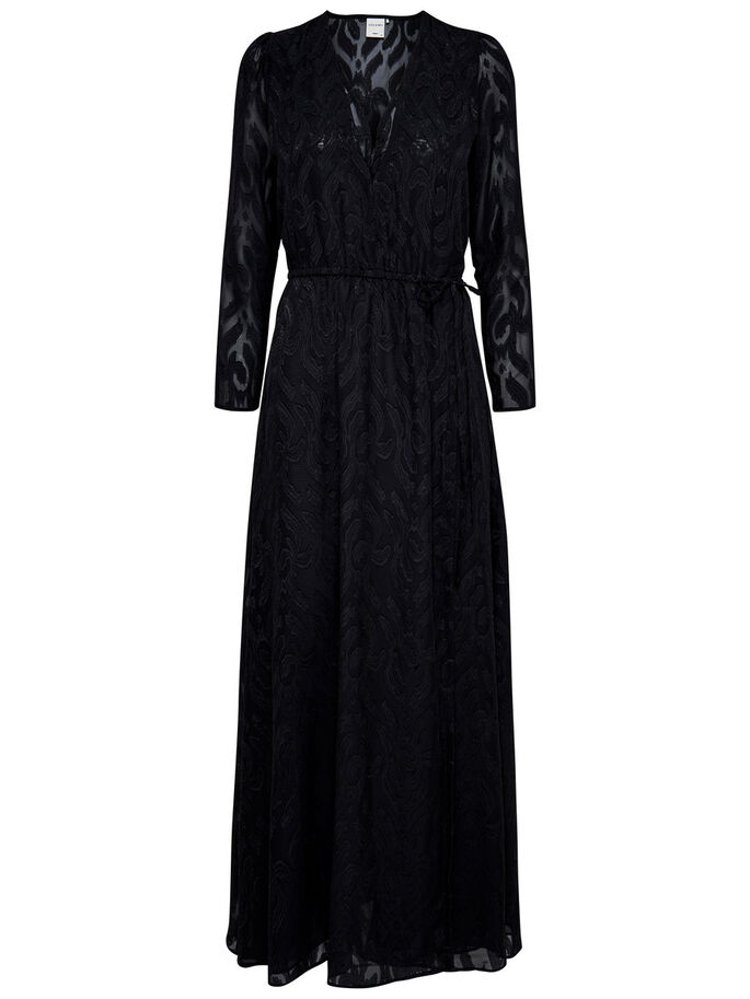 DETAILED MAXI DRESS, Black, large