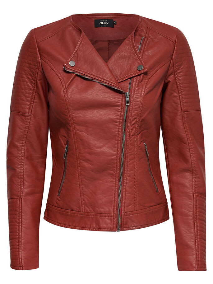 LEATHERLOOK JACK, Burnt Henna, large