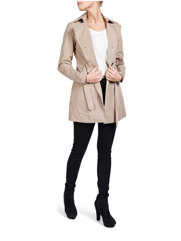 LONG TRENCHCOAT, Silver Mink, large