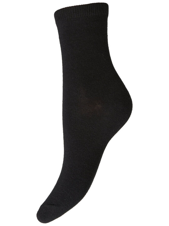 BASIC ANKLE SOCKS, Black, large