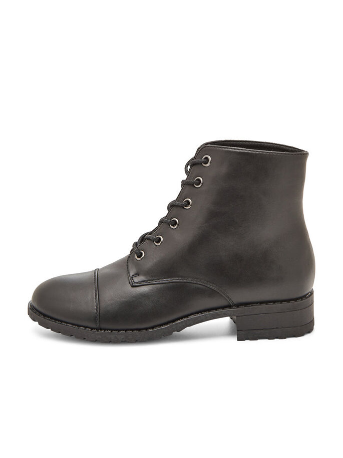 HØYE LACE-UP BOOTS, Black, large