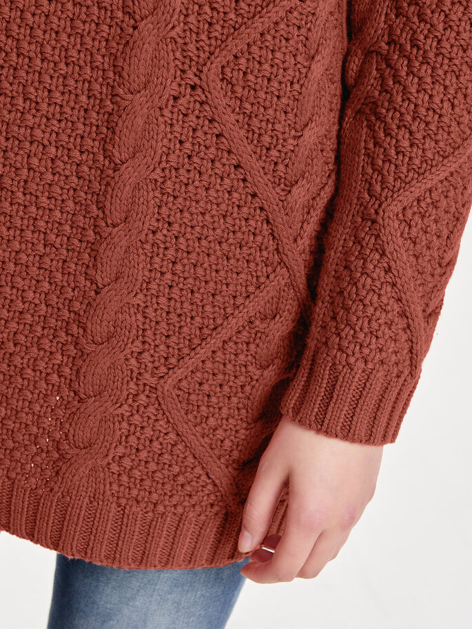 LONG KNITTED PULLOVER, Henna, large