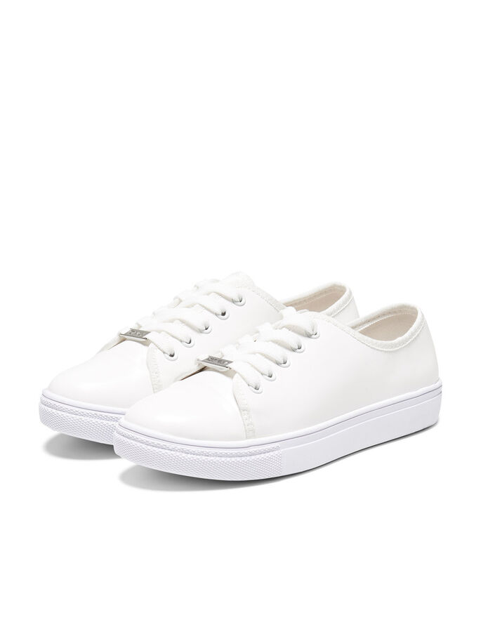 LACE-UP SNEAKERS, White, large
