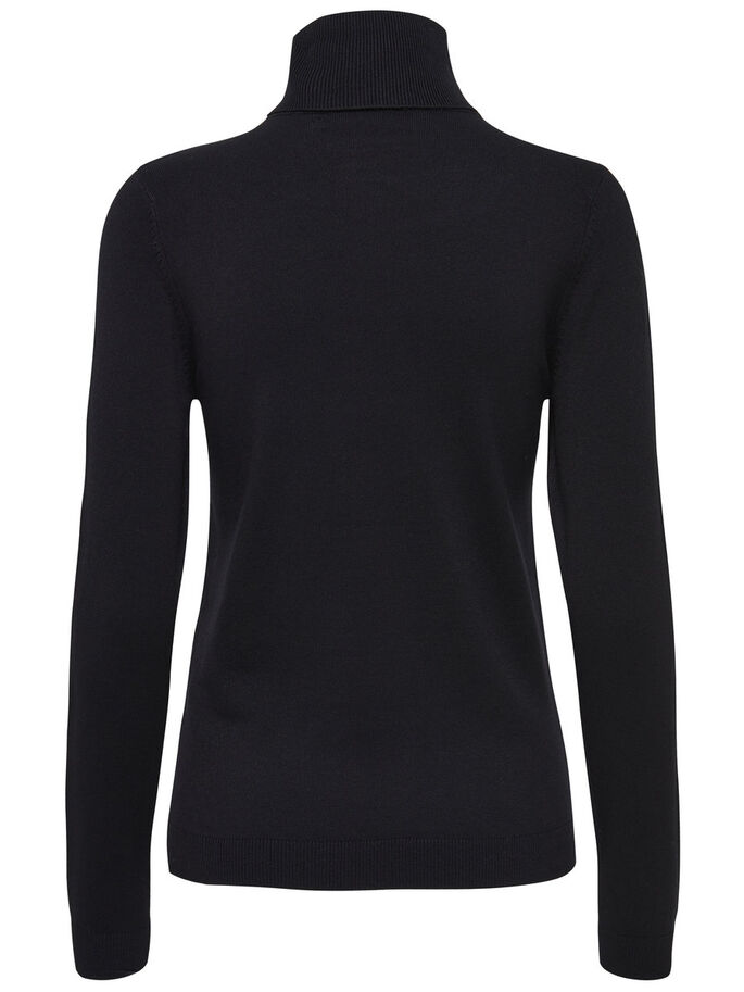 BASIC TURTLENECK, Black, large