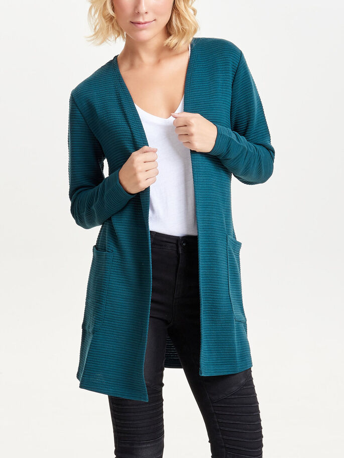 LANG SWEAT CARDIGAN, Reflecting Pond, large