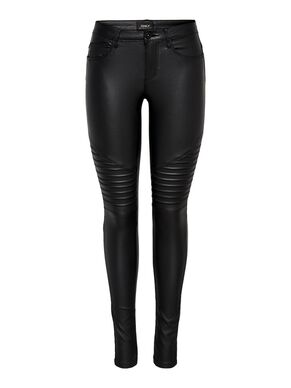 NEW ROYAL COATED BIKER SKINNY FIT JEANS