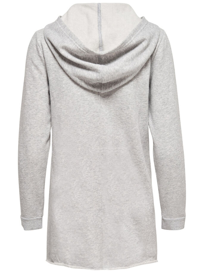 SWEAT CARDIGAN, Light Grey Melange, large