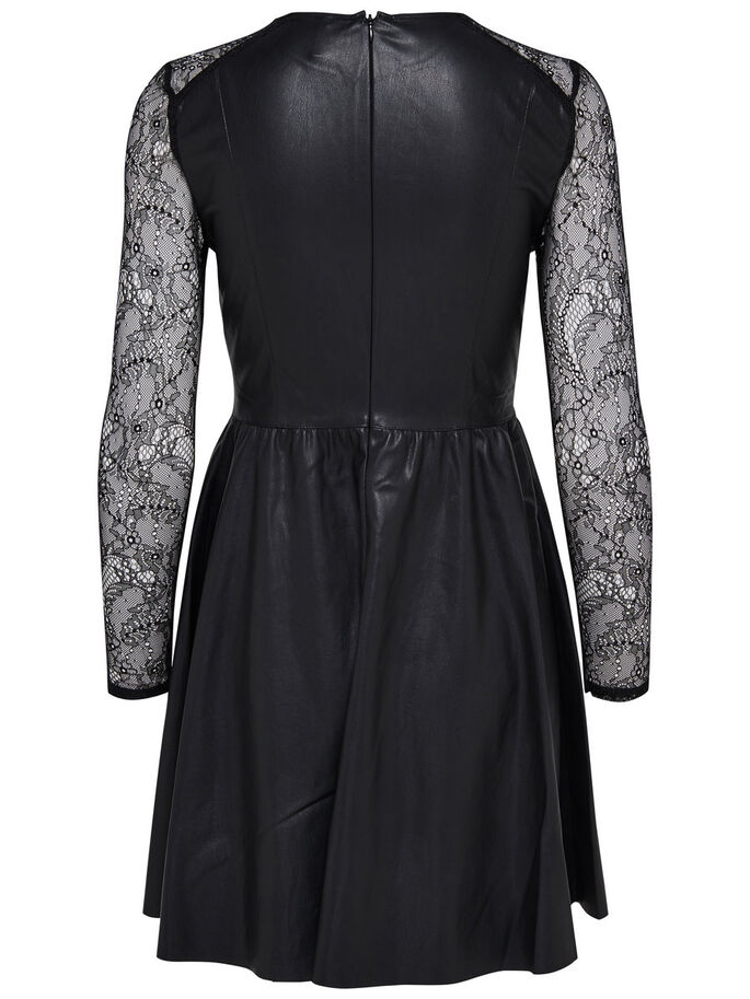 SIMILI-CUIR ROBE COURTE, Black, large