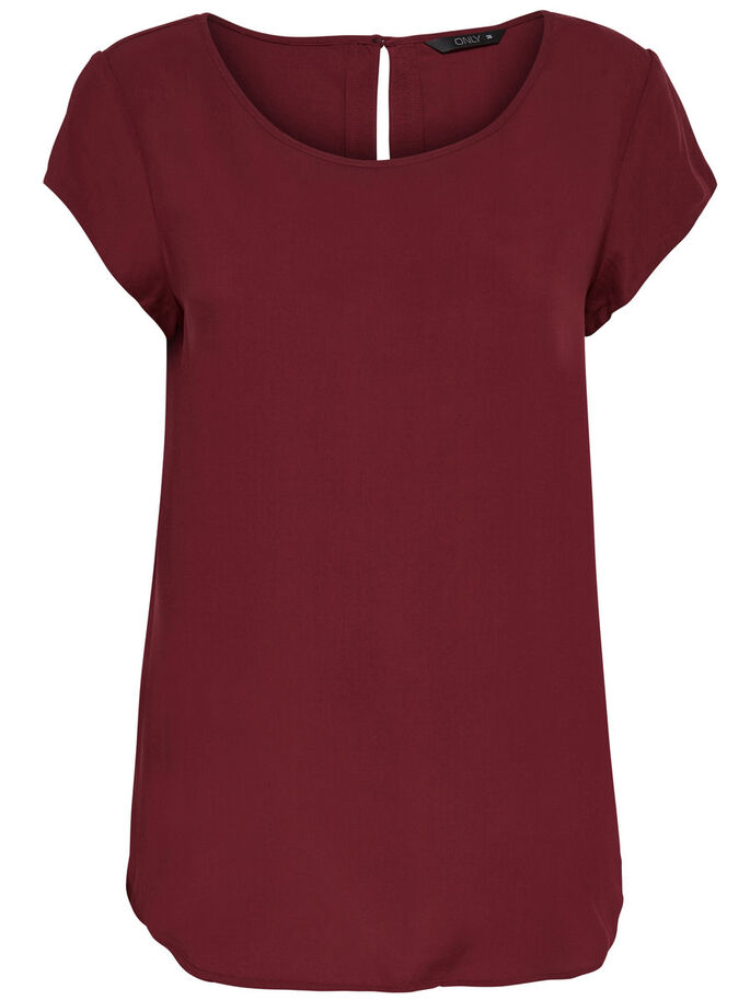 LOOSE SHORT SLEEVED TOP, Syrah, large