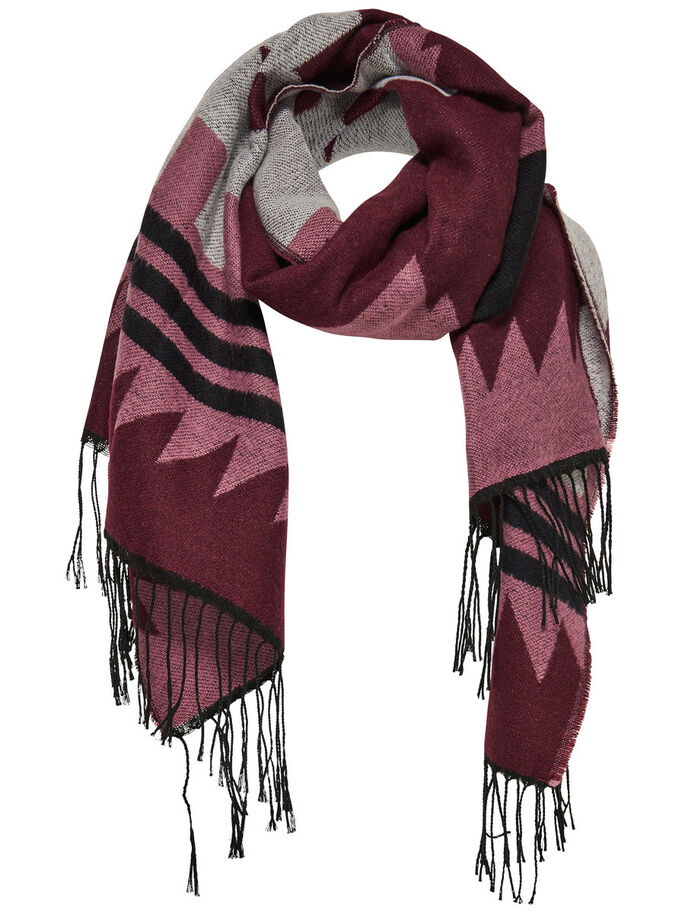 PRINTED SCARF, Windsor Wine, large