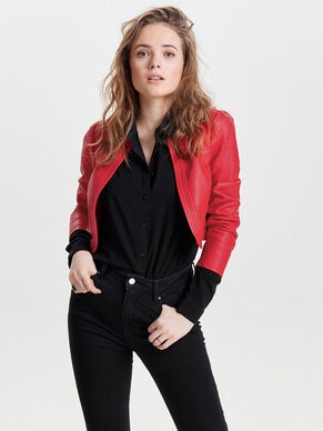LEATHER LOOK BOLERO