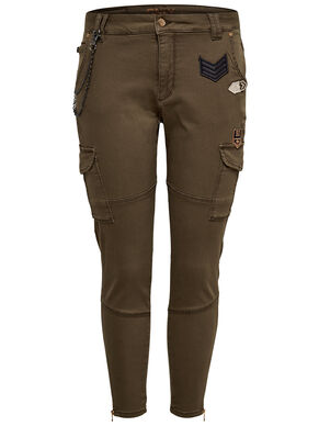 PATCH ANKLE CARGO PANTS