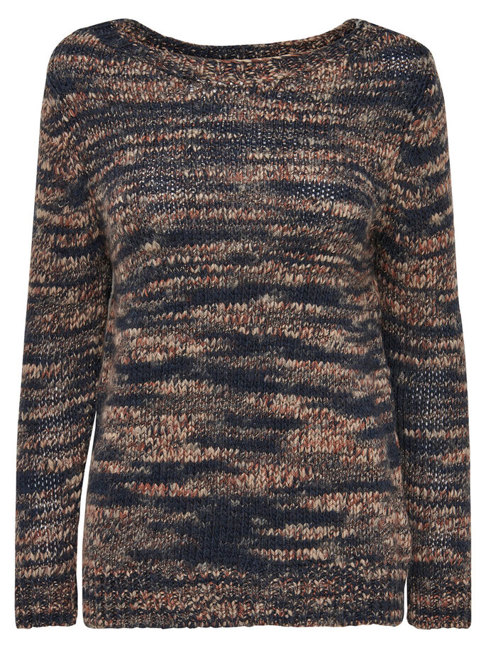 LOOSE KNITTED PULLOVER, Night Sky, large