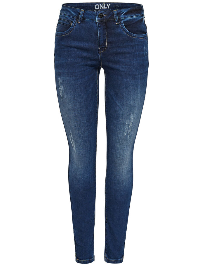 KENDELL REG ANKLE SKINNY FIT JEANS, Dark Blue Denim, large