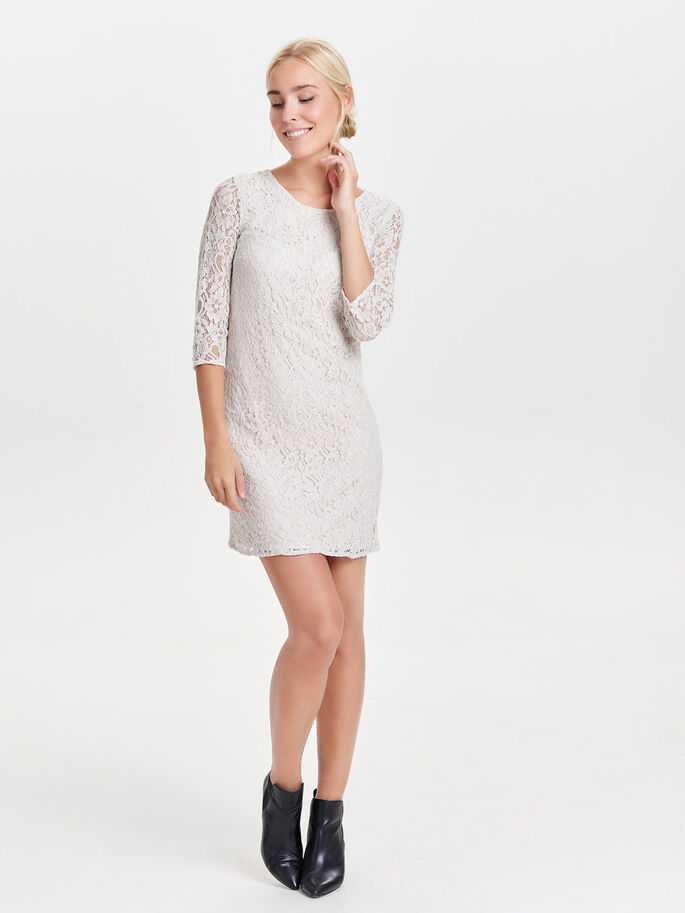 LACE DRESS, Pumice Stone, large