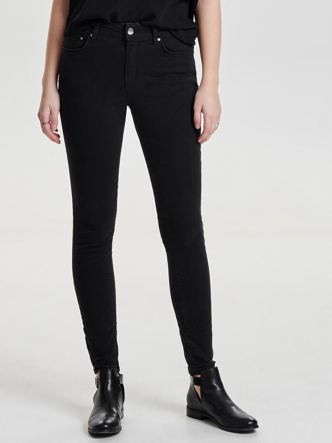 STUDIO MW ARGENT JEAN SKINNY, Black Denim, large