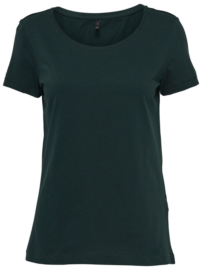 BASIC TOP MET KORTE MOUWEN, Scarab, large