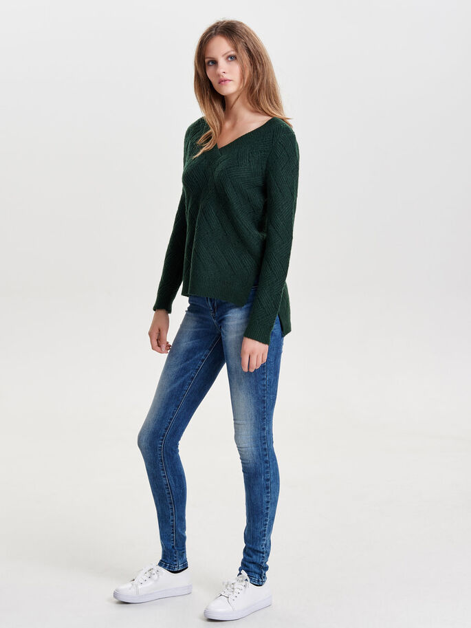 LOOSE KNITTED PULLOVER, Scarab, large