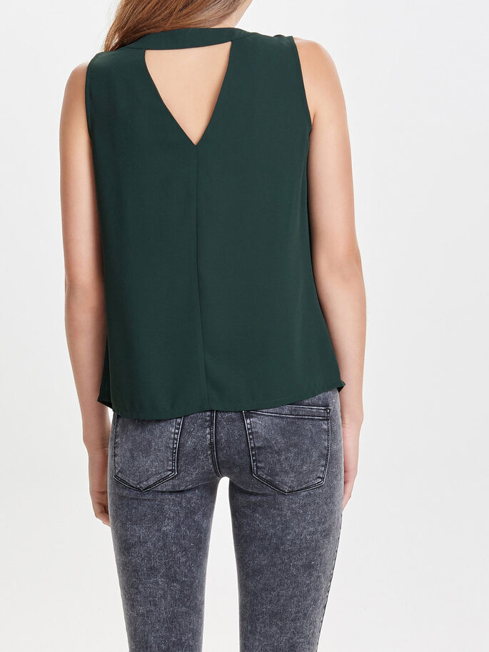 V-NECK SLEEVELESS TOP, Scarab, large