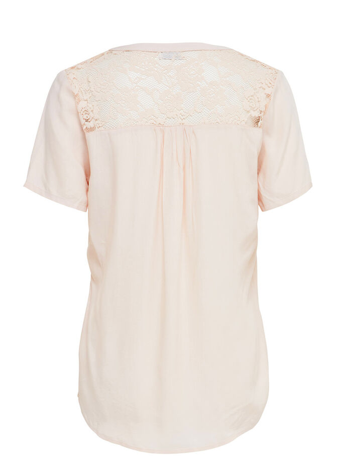 LACE SHORT SLEEVED TOP, Silver Peony, large